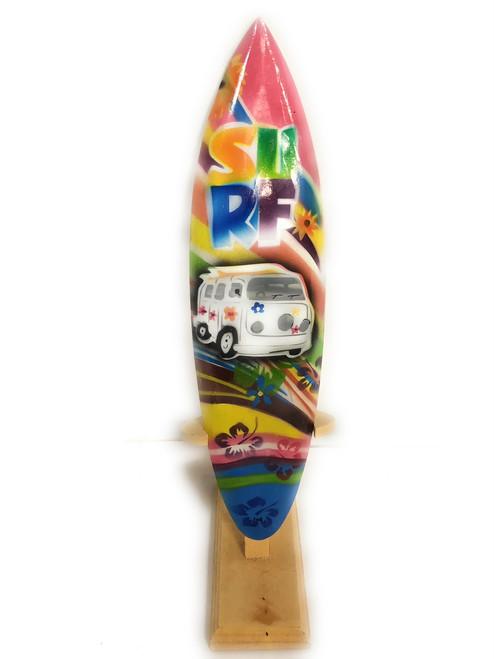 "Surfboard w/ Stand 70's VW Van Design 12"" - Trophy | #lea03m30"