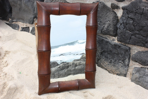 "Bamboo Rectangular Mirror 16""x24"" - Coastal Living | #pdn02"