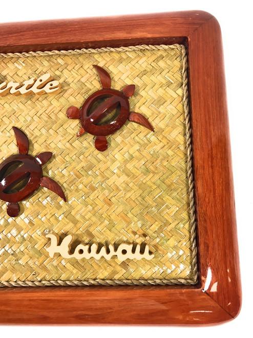 "Elegant Frame w/ Sea Turtles 15"" X 11"" - Mango Wood | #rpcframe4"