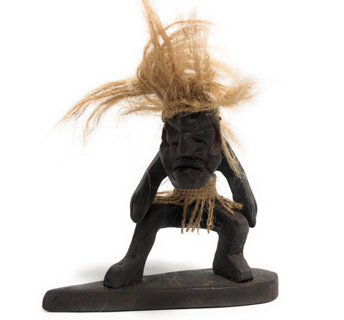 "Surfer Crazy Primitive Tiki Dude 6"" - Tribal Decor 
