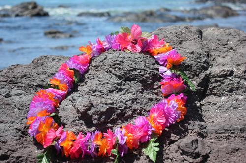 "Lei Bougainvillea / Luau Flower 18"" - Hawaiian Silk Leis"