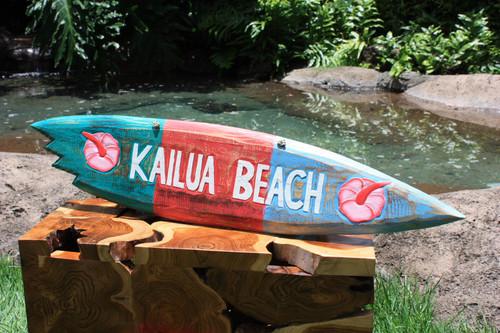 """""""Kailua Beach"""" Shark Bite Surf Sign - 40"""" - Beach Decor   #snd25026100"""