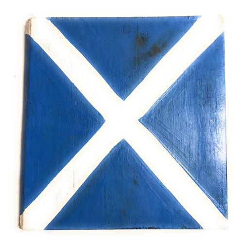 "M Nautical Alphabet Wooden Plaque 7"" X 7"" - Coastal Decor | #skn16017m"