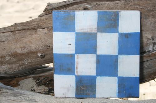 "N Nautical Alphabet Wooden Plaque 7"" X 7"" - Coastal Decor | #skn16017n"
