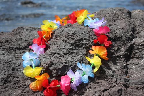 "Multi Color Promo Lei 18"" - Hawaiian Silk Leis"