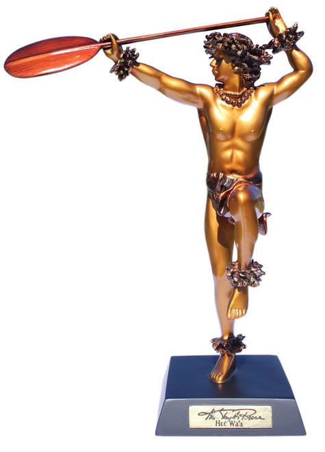 """Hoe Wa`a"" Hawaiian Canoe Paddler -Kim Taylor Reece Statue | #ktr696933130992"