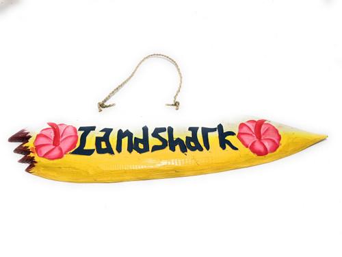 """Landshark"" Shark Bite Surf Sign - 20"" - Beach Decor | #snd2503050"