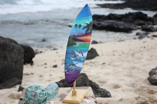 "Surfboard w/ Stand Island Lifestyle Design 16"" - Trophy   #lea04j40"