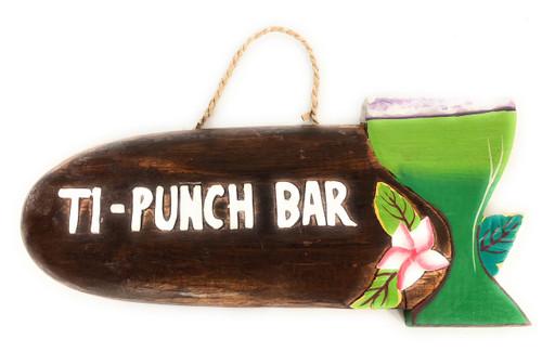 """Ti-Punch Bar"" Margarita Sign - Tiki Bar Decor   #snd2503130"
