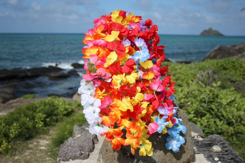 Hukilau Silk Hawaii Leis, 12-Pack - Silk Lei Luau Decor