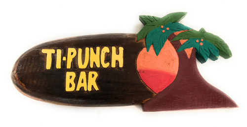 """Tiki Bar Ti-Punch Sign 12"""" - Hanging Happy Hour Signage   #snd2503230"""