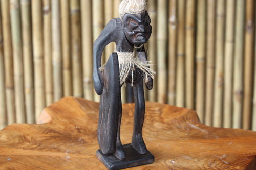 "Beach Stand Surfer Dude Crazy Primitive Tiki 8"" - Tribal Decor 