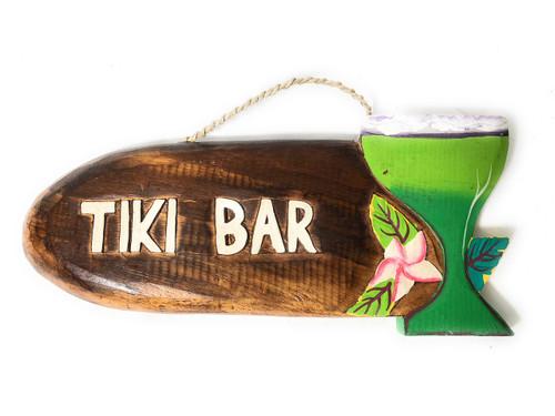 Tiki Bar sign w/ Margarita Cocktail   #snd2503430