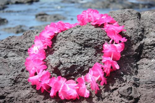 """Pink Island Lei 18"""" - Hawaiian Silk Leis"""