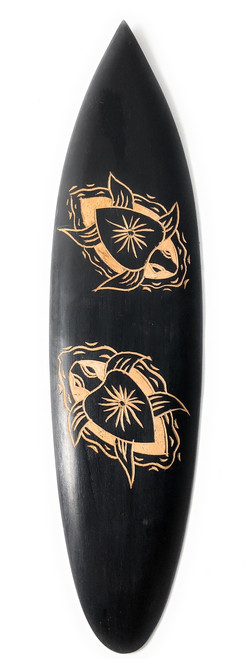 Surfboard w/ Carved Honu - Turtles | #pds2300740