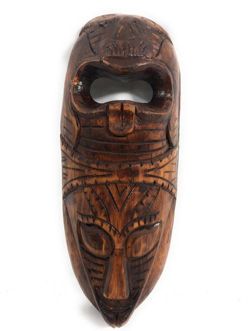"Fijian Tiki Mask 12"" - 2 Deities Love & Strength | #mdr1900830"