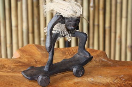 "Off The Wall Skateboarder Crazy Primitive Tiki Dude 7"" - Tribal Art | #lge24015"