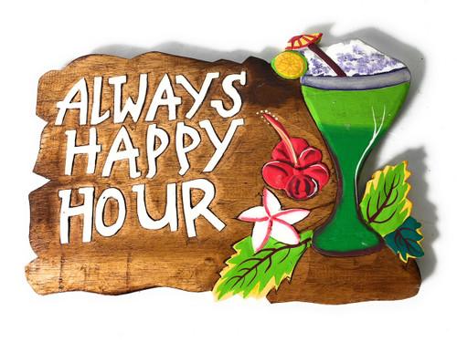 "Tiki Bar Sign ""Always Happy Hour"" with Margarita   #snd2504130"
