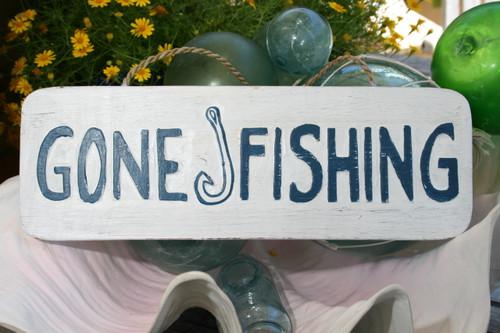"Gone Fishing Sign 14"" - Beach Decor | #ort1705735"