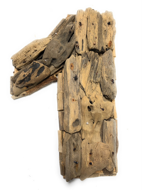 """""""1"""" Driftwood Number 10"""" Home Decor - Rustic Numerical 