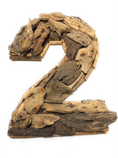 """""""2"""" Driftwood Number 10"""" Home Decor - Rustic Numerical 