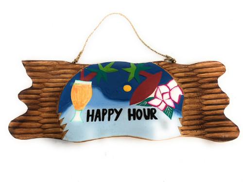 "Tiki Bar Sign ""Happy Hour"" Night on the Beach Sign 20""   #snd2504650"