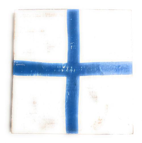 "X Nautical Alphabet Wooden Plaque 7"" X 7"" - Coastal Decor   #skn16017x"