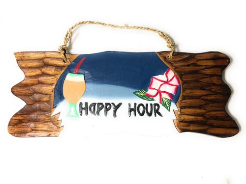 """Happy Hour"" Tiki Bar Sign Night on the Beach Sign | #snd2504830"