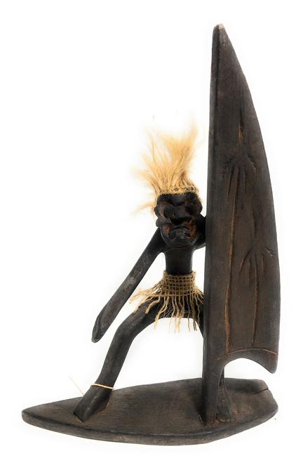 "Windsurfing Crazy Primitive Tiki Dude 11"" - Tribal Art | #t6156"