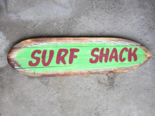 """Surf Shack"" Rustic Sign on Wood Planks 40"" | #sda3402100"