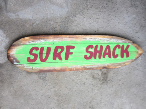 """Surf Shack"" Rustic Sign on Wood Planks 40""   #sda3402100"