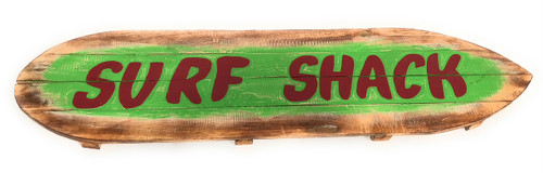 """Surf Shack"" Rustic Sign on Wood Planks 40"" 