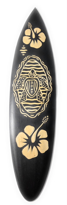 "Surfboard w/ Turtle & Hibiscus 16"" - Trophy | #sur13d40"