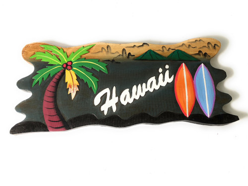 "Lanikai, Mokuluas Islands Sign 20"" - Decorative Surf Decor 