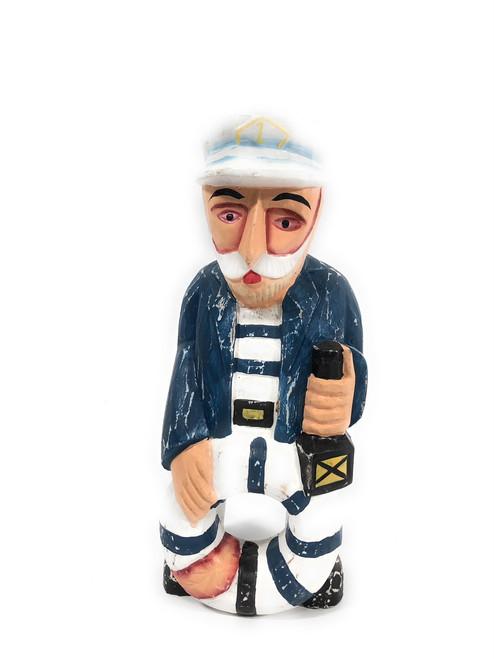 "Decorative Sailor/Captain 12"" - Rustic Coastal | #ort1704325b"
