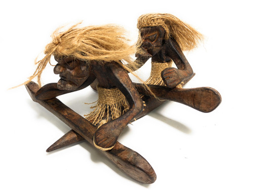 "Tandem Kayakers Crazy Primitive Tiki Dude 10"" X 8"" - Tribal Art   #t6163"