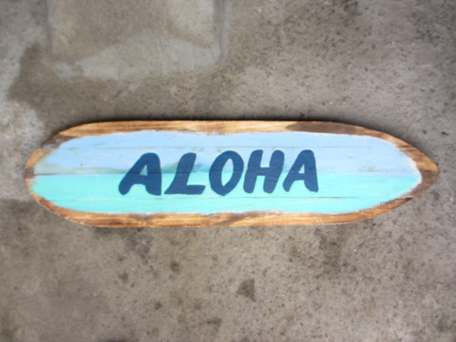 """Aloha"" Rustic Sign on Wood Planks 40"" 