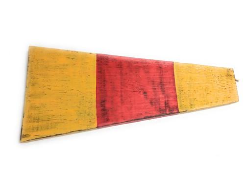 "0 Nautical Numerical Flag 12"" Wood Plaque - Coastal Decor | #skn160210"