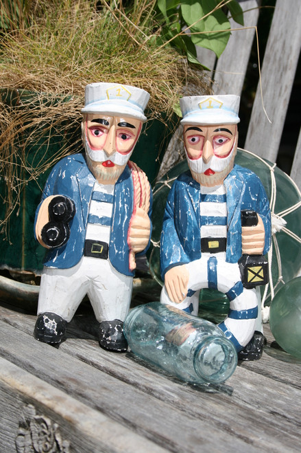 """SET OF 2 CAPTAINS """"ALL OUT"""" - RUSTIC NAUTICAL 12"""" - NAUTICAL DECOR"""