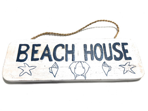 "Beach House Sign 14"" - Rustic Cottage Style Sign 