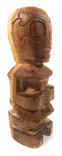 "Fisherman's Good Luck Tiki Staue 12"" Natural 