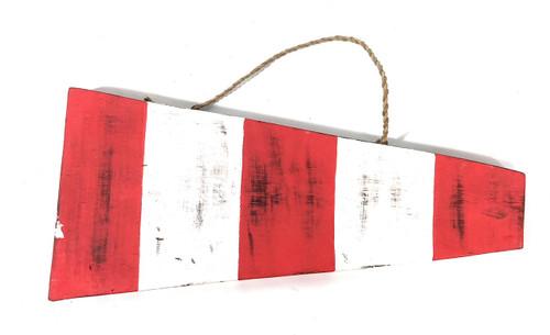 "#00 Nautical Numerical Flag 12"" - Wood Panel | #skn1602100"