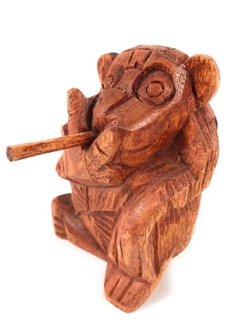 "Monkey Carved 4.5"" Smoking No Smoking Bad Monkey Business | #raw01"