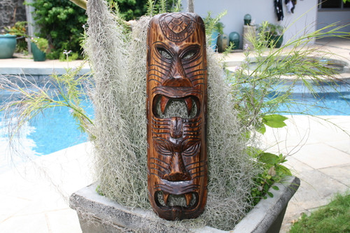 "Fijian Tiki Mask 20"" - Warrior - Polynesian Art 