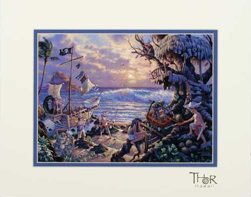 "SWASHBUCKLER SUNRISE 11"" X 14"" PRINT - THOR HAWAII"