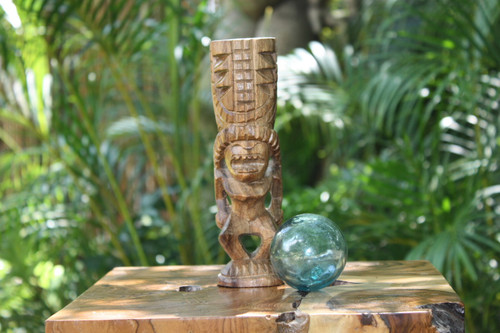 "Love Tiki Totem 8"" Natural - Hawaiian Tiki Bar Decor   #yda1100720"
