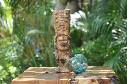"Love Tiki Totem 8"" Natural - Hawaiian Tiki Bar Decor | #yda1100720"