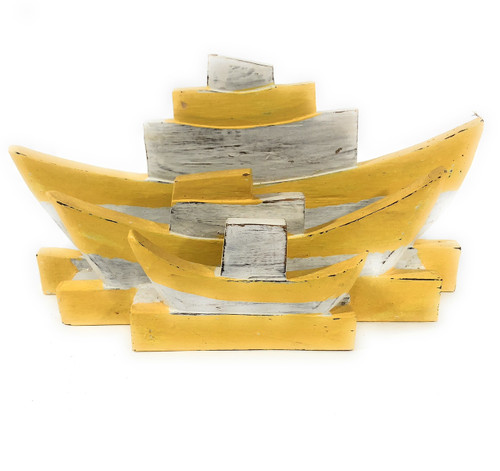 """Napkins/Mail Holder 13"""" - Rustic Yellow Nautical Decor   #ort1702318y"""