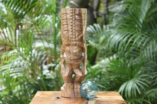"Love Tiki Totem 12"" Natural - Hawaiian Tiki Bar Decor | #Yda1100730"
