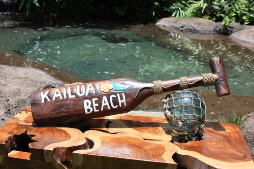"Kailua Beach Paddle 24"" - Decorative Wall Hanging oar 